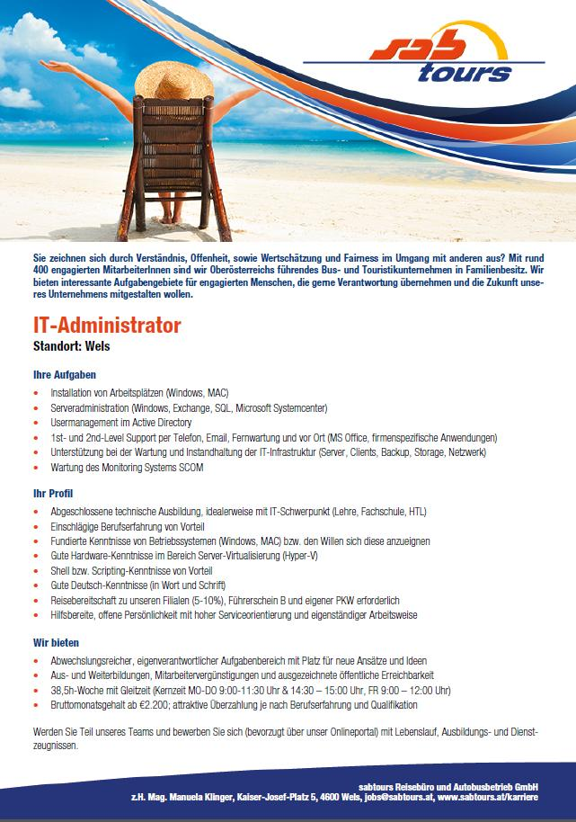 sabtouts sucht IT-Administrator/in